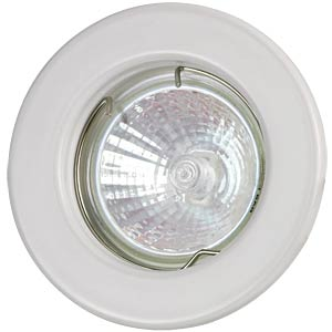 Ceiling mounting ring, fixed, white, GU5.3 HEITRONIC 23230