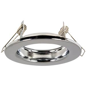 Ceiling mounting ring, fixed, chrome, GU5.3 HEITRONIC 23232