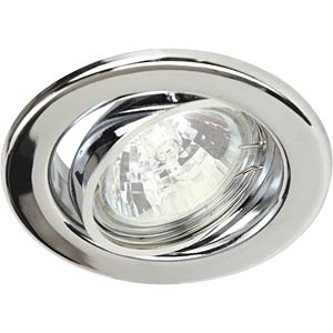 Ceiling mounting ring, swivelling, chrome, GU5.3 HEITRONIC 23242