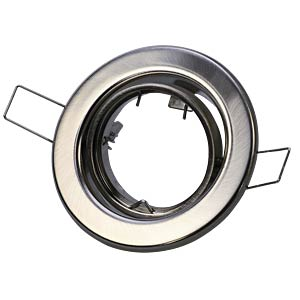 Ceiling mounting ring, swivelling, chrome matt, GU5.3 HEITRONIC 23244