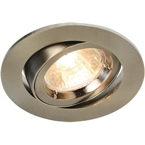 Ceiling mounting ring, swivelling, chrome matt, GU5.3 HEITRONIC 23414