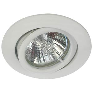 Ceiling mounting ring, swivelling, white, GU5.3 HEITRONIC 23430