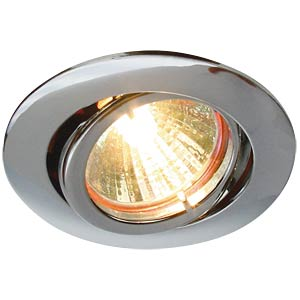 Ceiling mounting ring, swivelling, chrome, GU5.3 HEITRONIC 23432