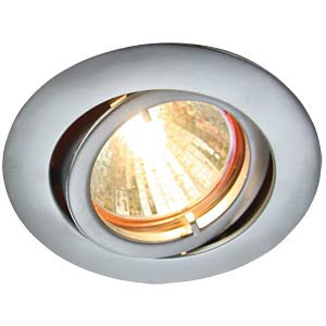 Ceiling mounting ring, swivelling, chrome matt, GU5.3 HEITRONIC 23434
