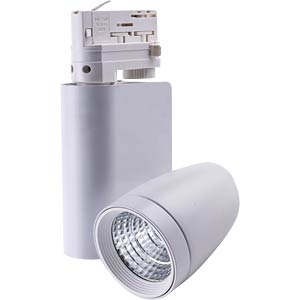 Track-mounted LED spotlight, RAIO, 35 W, 45° HEITRONIC 26057