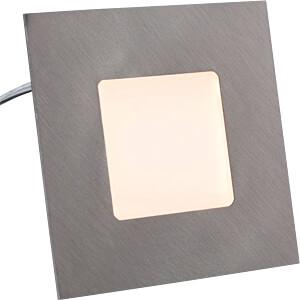 LED-Panel, 2,2 W, 23 lm, 2700 K, 74 x 74 mm, Edelstahloptik HEITRONIC 27693