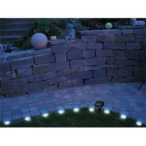 LED-Solarleuchte, Rasenkanten-Lichterkette, IP44 HEITRONIC 35350
