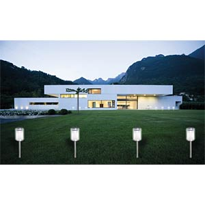 SORA LED solar light, set of four HEITRONIC 36056