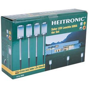 Solar-LED-Leuchte 4er Set SORA HEITRONIC 36056