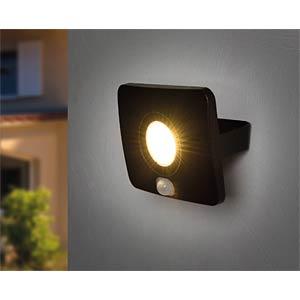 LED-Flutlicht, 20 W, 1400 lm, 3000 K, Bewegungsmelder HEITRONIC 37393