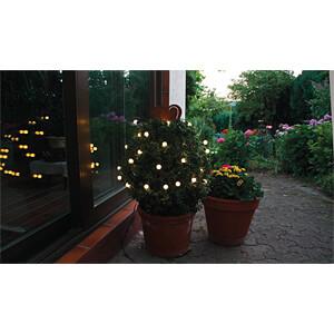 LED Lichterkette, Ball, 7 m, warmweiß, außen HEITRONIC 39527
