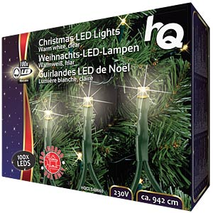 Weihnachtsbeleuchtung mit 100 LED-Lampen HQ HQCLS48660