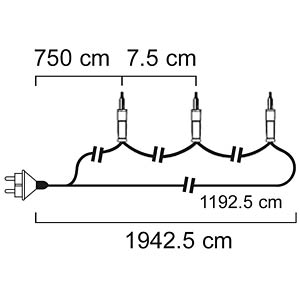 Lichterkette, 14,4 W, für außen, warmweiß HQ HQCLS93429