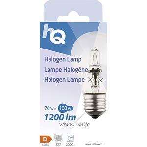 Halogenlampe E27, 70 W, 1200 lm, 2800 K, dimmbar HQ HQHE27CLAS005