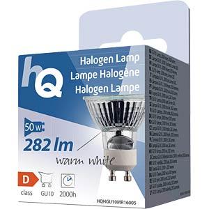 MR16 GU10 50 W 282 lm 2.800K, EEK D HQ HQHGU10MR16005