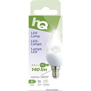 LED-Lampe E14, 2,5 W, 140 lm, 2700 K HQ HQLE14CAND001