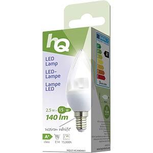 LED-Lampe in Kerzenform E14 2,5 W 140 lm 2.700 K, EEK A+ HQ HQLE14CAND001