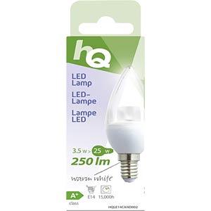 LED-Lampe in Kerzenform E14 3,5 W 250 lm 2.700 K, EEK A+ HQ HQLE14CAND002