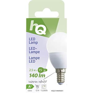 LED bulb, teardrop design E27 3.5 W 250 lm 2700 K, EEC A+ HQ HQLE27MINI001