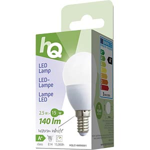 LED-Lampe in Tropfenform E14 2,5 W 140 lm 2.700 K, EEK A+ HQ HQLE14MINI001