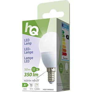 LED-Lampe in Tropfenform E14 5 W 350 lm 2.700 K, EEK A+ HQ HQLE14MINI003