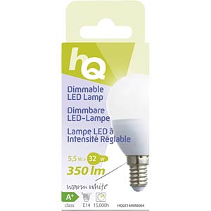 LED-Lampe E14, 5,5 W, 350 lm, 2700 K, dimmbar HQ HQLE14MINI004