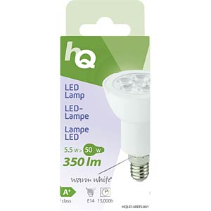 LED-Lampenreflektor E14 5,5W 350 lm 2.700 K, EEK A+ HQ HQLE14REFL001