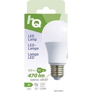 LED-Lampe A60 E27 6,5W 470 lm 2.700 K, EEK A+ HQ HQLE27A60001