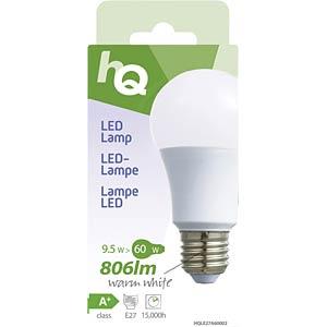 LED-Lampe A60 E27 9,5 W 806 lm 2.700 K, EEK A+ HQ HQLE27A60002