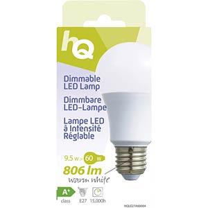 LED-Lampe E27, 9,5 W, 806 lm, 2700 K, dimmbar HQ HQLE27A60004