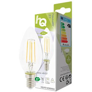 filament LED lamp,  4 w, 330 lm, 2700 k HQ HQLFE14CND002
