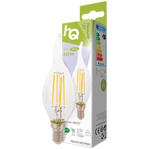 filament LED lamp,  4 w, 330 lm, 2700 k HQ HQLFE14FLTP002