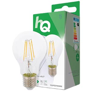 filament LED lamp,  6 w, 800 lm, 2700 k HQ HQLFE27A60002