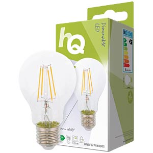 Filament LED Lampe, 4 W, 370 lm HQ HQLFE27A60003