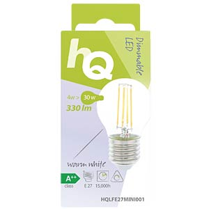 filament LED lamp,  4 w, 330 lm, 2700 k HQ HQLFE27MINI001