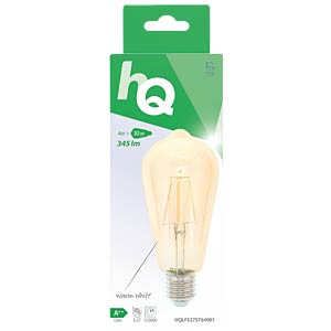Filament LED Lampe, 4 W, 345 lm HQ HQLFE27ST64001