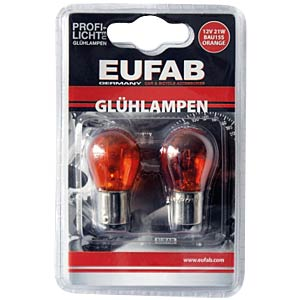 Glühlampen, BAU15S, 21 Watt, 2 Stck., orange EAL 13306