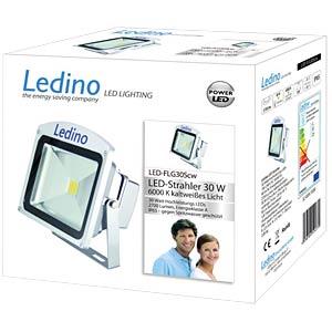 LED floodlight, 30W, 6000K, silver, EEC A LEDINO LED-FLG30SCW