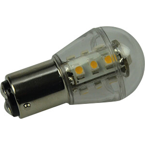 LED-Lampe, BA15d, 1,6 W, 140 lm, 3000 K, 51 mm DIODOR DIO-LED15G25BAL/2