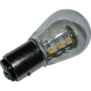 LED-Lampe, BAY15D, 1,6 W, 140 lm, 3000 K, 48 mm DIODOR DIO-LED15G25BAYL