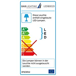 LED-Panel TERRA PANTRiA, 36 W, 3700 lm, 4000 K, eckig, dimmbar BAB DISTRIBUTION LEDB0019