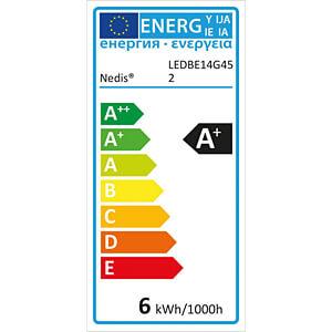 LED-Lampe E14, 6 W, 470 lm, 2700 K, dimmbar NEDIS LEDBDE14G45