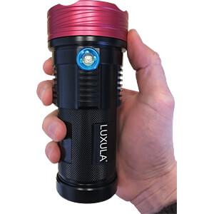 LED-Taschenlampe, 6000 lm, 10 W, 3 Modi, 4x 18650 Zellen LUXULA LX0230