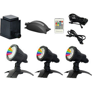 LED-Gartenstrahler, LUXULA, RGB, 3er-Set, IP67 LUXULA LX0653