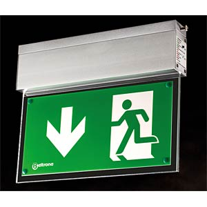 Emergency light fixture for ceiling surface-mounting, incl. batt FREI