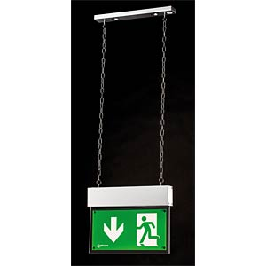 Emergency light fixture for chain-mounting, incl. battery FREI