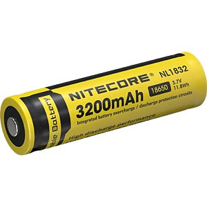 Industriezelle, Li-Ion, 18650, 3,7 V, 3200 mAh, Button Top