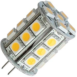 G4 pin-base lamp, 12 V, 300 lm, 3000°K, 320° LED GALAXY SMD-G4R55-27WW