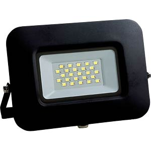 LED-floodlight, 20 W, 1700 lm, 6000 K, slim, zwart, IP65 OPTONICA FL5883