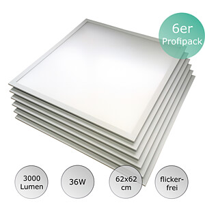 LED Panel, value pack, 36 W, 62x62 cm, 25000 h, 4500 K OPTONICA DL2735PP